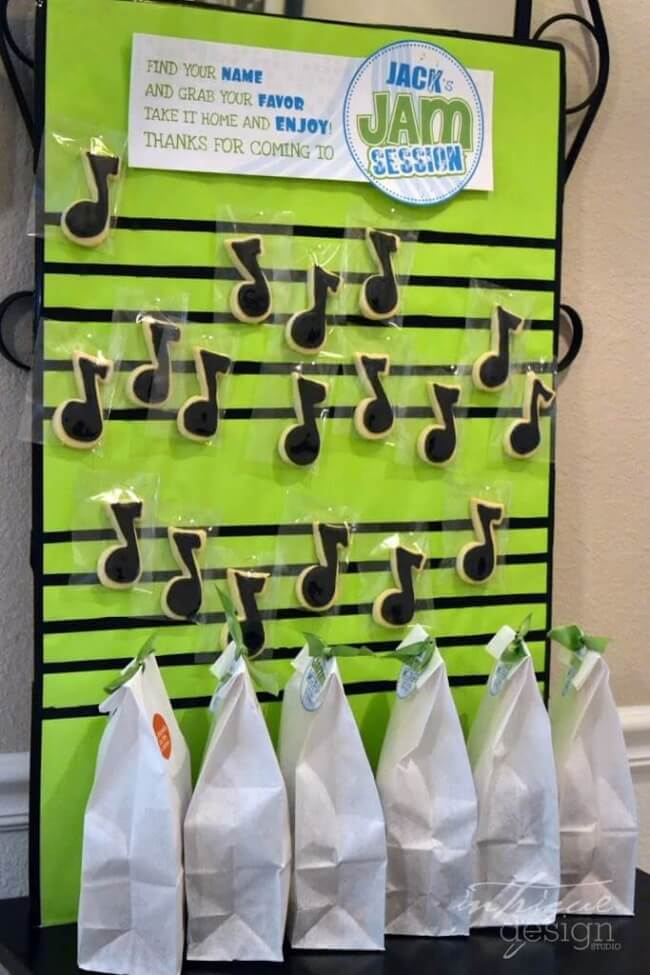 Boys Music Themed Jam Session Birthday Party Favor Ideas
