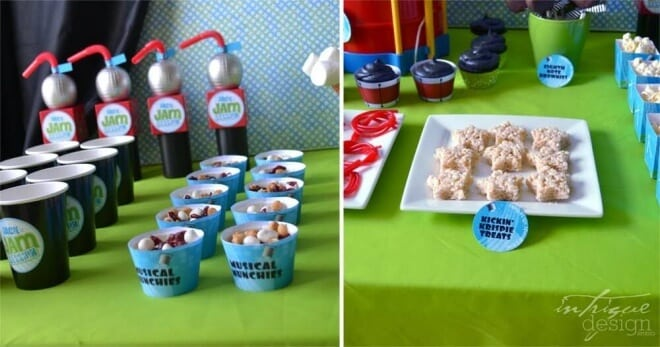Boys Music Themed Party Jam Session Food Ideas