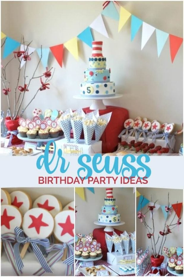 Peachy Dr Seuss Themed Birthday Party Spaceships And Laser Beams Funny Birthday Cards Online Sheoxdamsfinfo