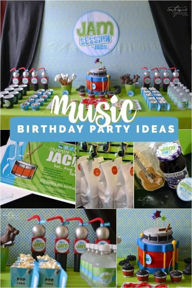 Boys Music Themed Birthday Party Spaceships And Laser Beams