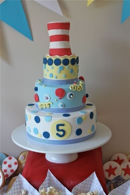 boys Dr Seuss Birthday Party Cake ideas