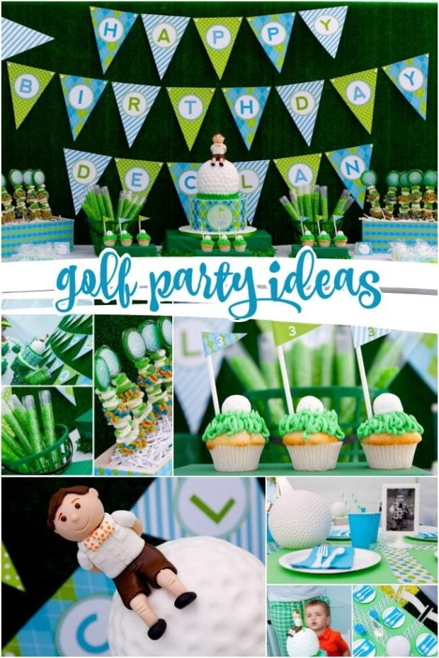 Boys Golf Birthday Party & Sports Party - An Adorable Boy\u0027s Golf Party | Spaceships and Laser Beams
