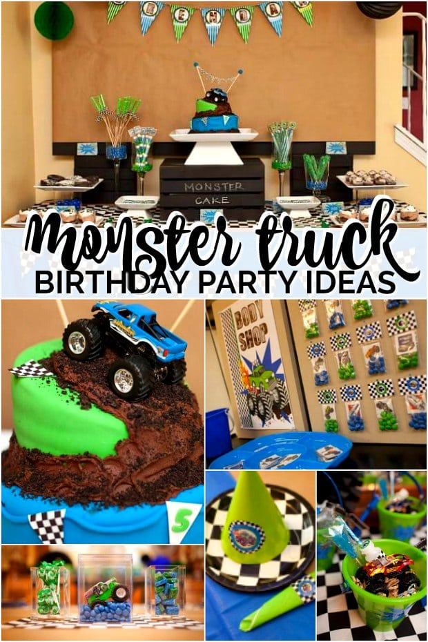 Monster Truck Birthday Party Dessert Table Spaceships And Laser