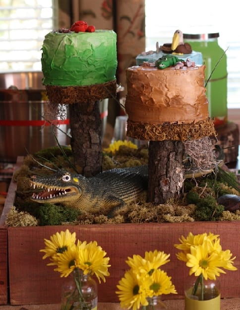 Alligator Swamp Themed Cakes