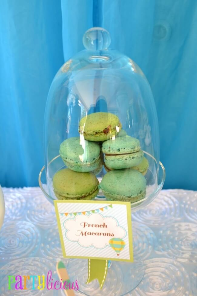 Boys Hot Air Balloon Party Food Macaroon Ideas