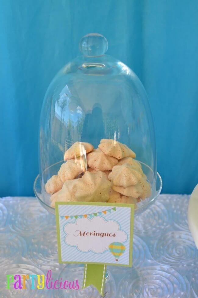 Hot Air Balloon themed Boys Baby Shower Party Food Ideas