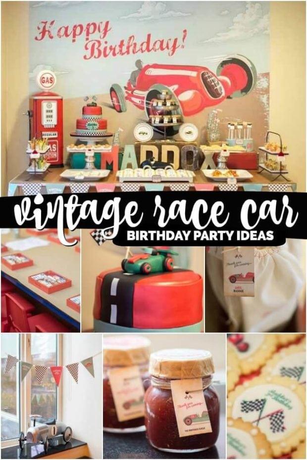 Vintage Race Car Birthday Party