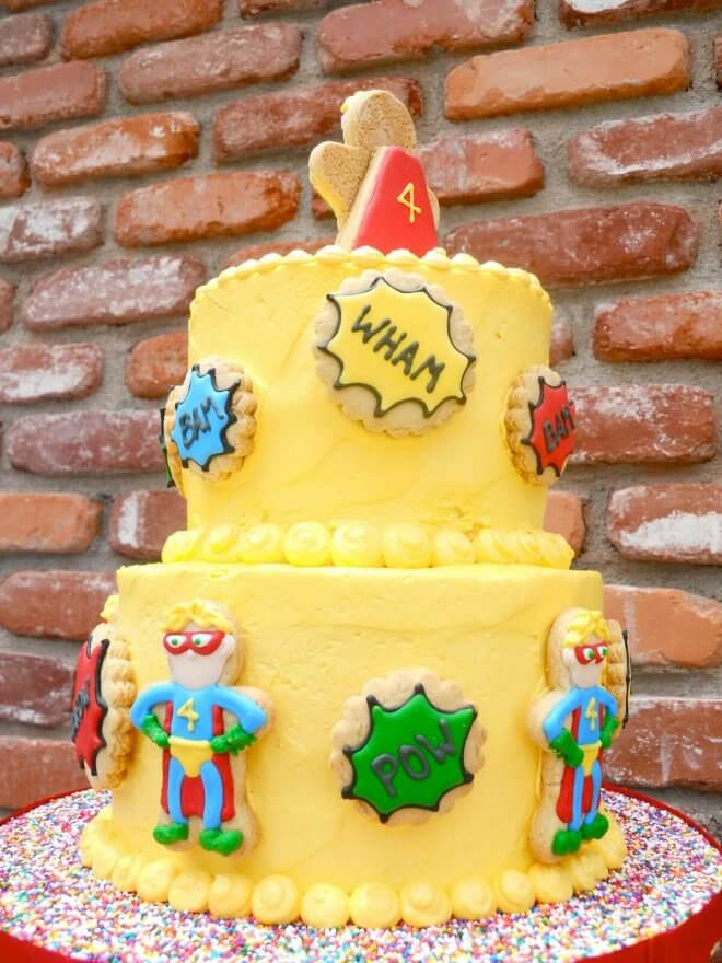 Superhero Birthday Party Cake