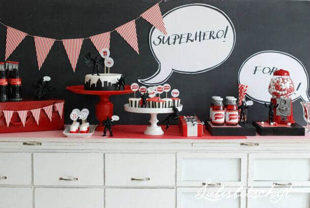Superhero Candy Buffet Table 2