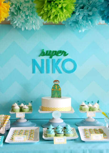 Super Niko Super Hero Birthday Party