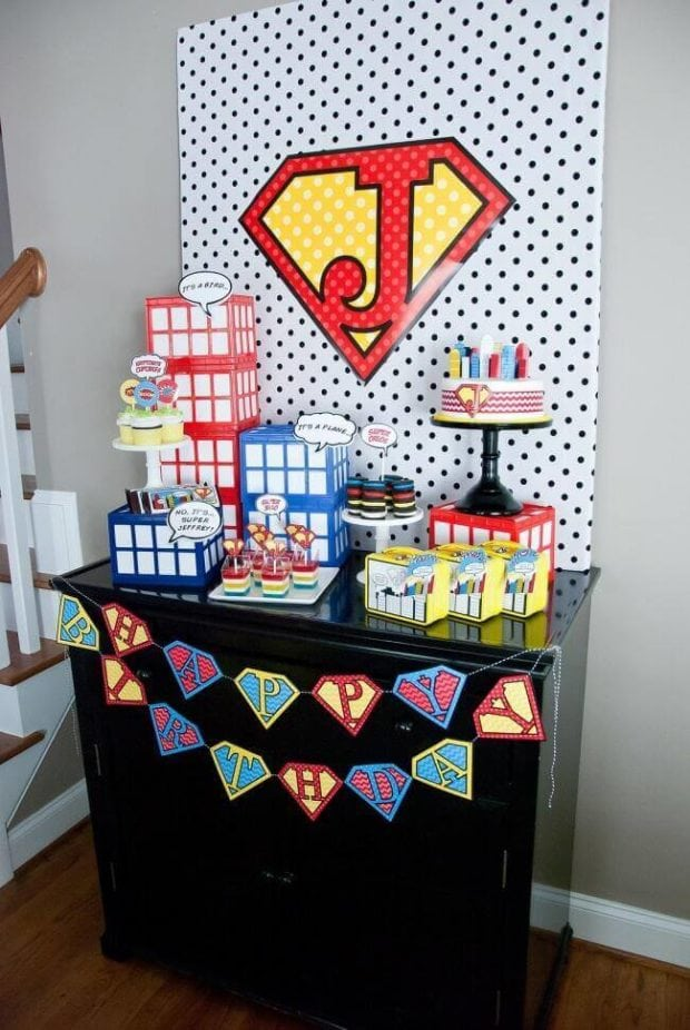 Boys Superhero Birthday Party