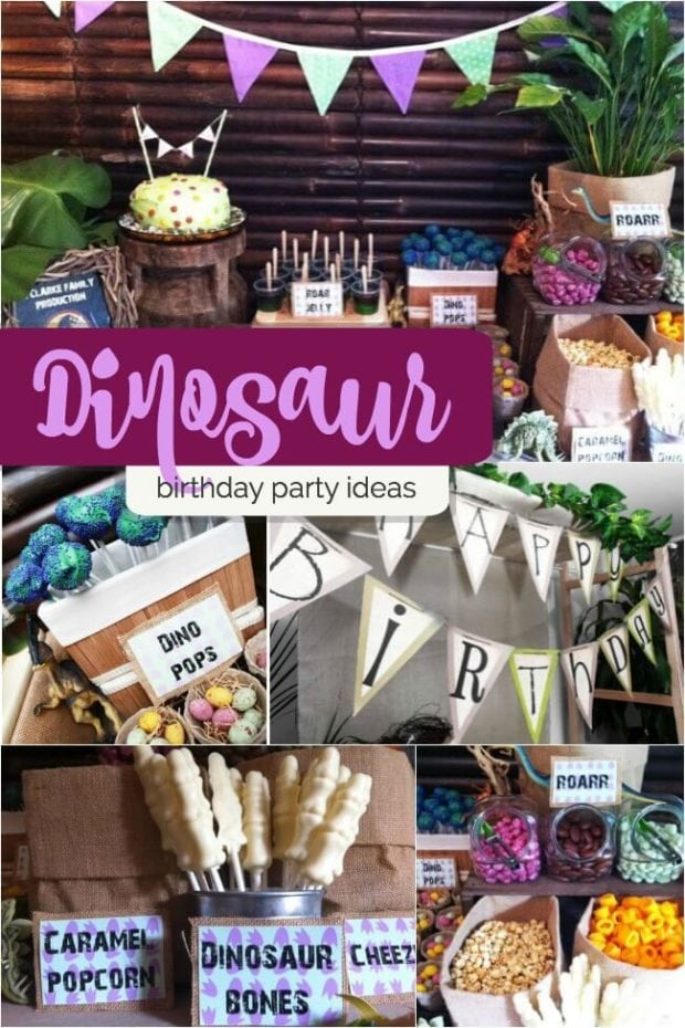 Boy S Dinosaur Themed Birthday Party Spaceships And
