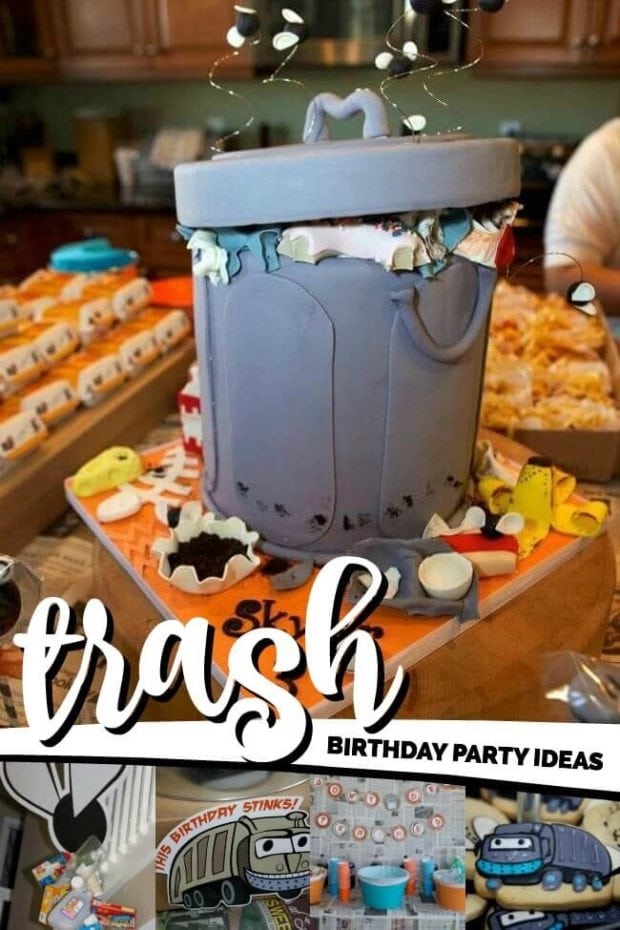 Trash Garbage Themed Birthday Party