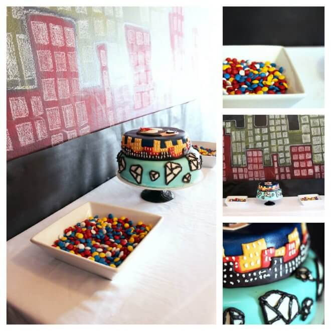 Superhero Birthday Party Dessert Table