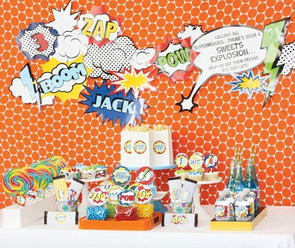 Comic Book Vintage Superhero Birthday Party