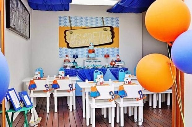Under the Sea Birthday Party Dining Table Ideas