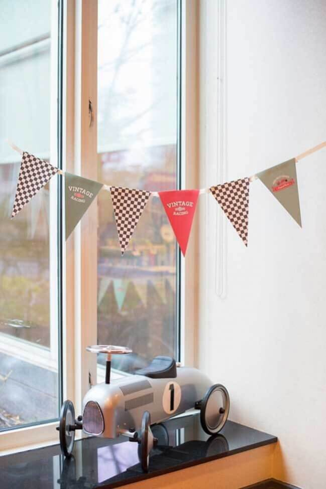 Vintage Race Car Boy Birthday Party Decoration Ideas