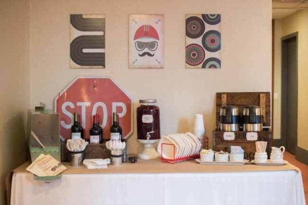 Vintage Race Car Boy Birthday Party Ideas Drink Station