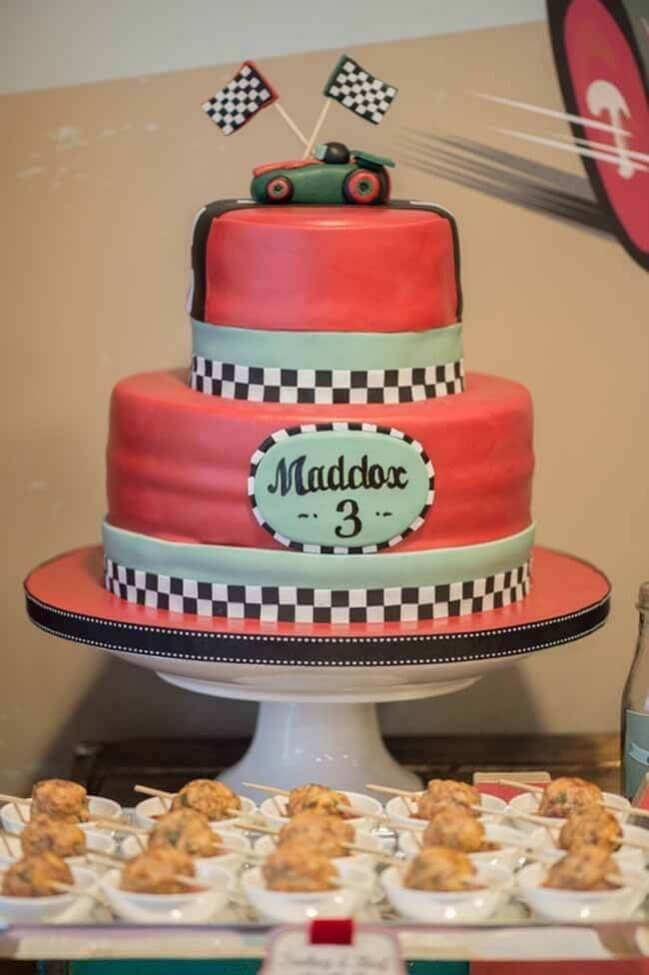 Vintage Race Car Boy Birthday Party Ideas Cake Ideas