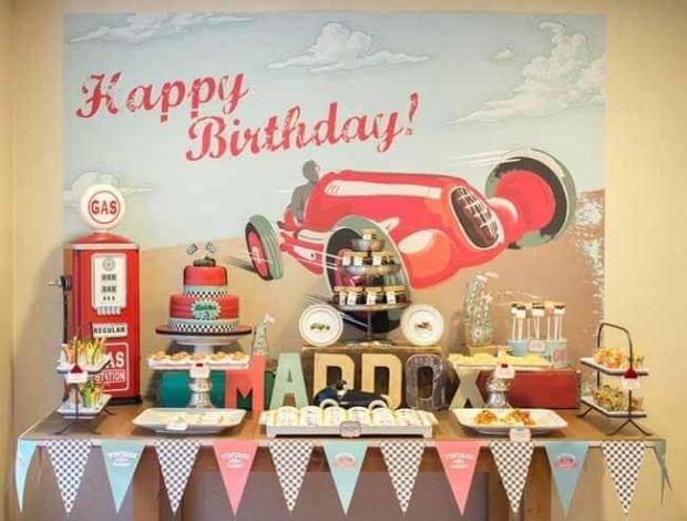 Vintage Race Car Boy Birthday Party Ideas