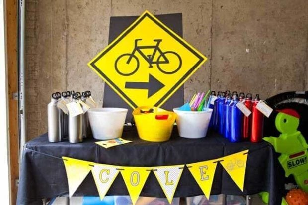 Boys Bicycle Themed Birthday Party Station