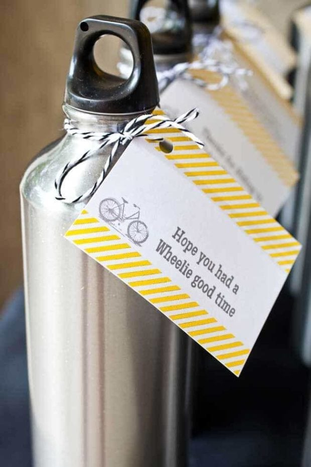 Boys Bicycle Themed Birthday Party Favors