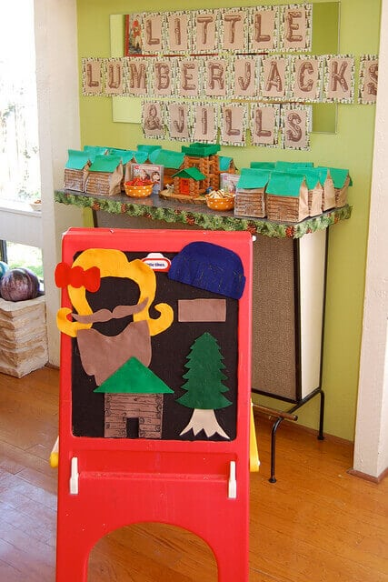 Lumber Jack and Jill Felt play board