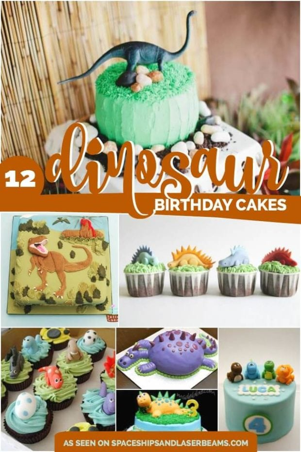 12 Dinosaur Birthday Party Cakes from Spaceships and Laser Beams.