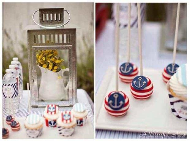 Nautical Themed Birthday Party Cucakes