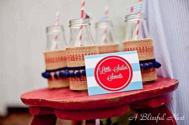 Nautical Themed Birthday Party Drink Ideas