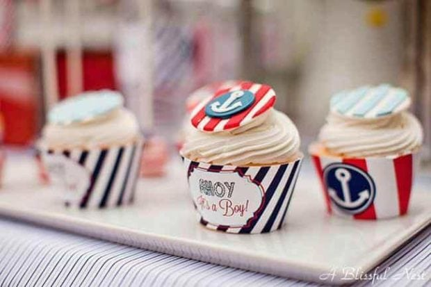 Nautical Themed Birthday Party Cupcake Ideas