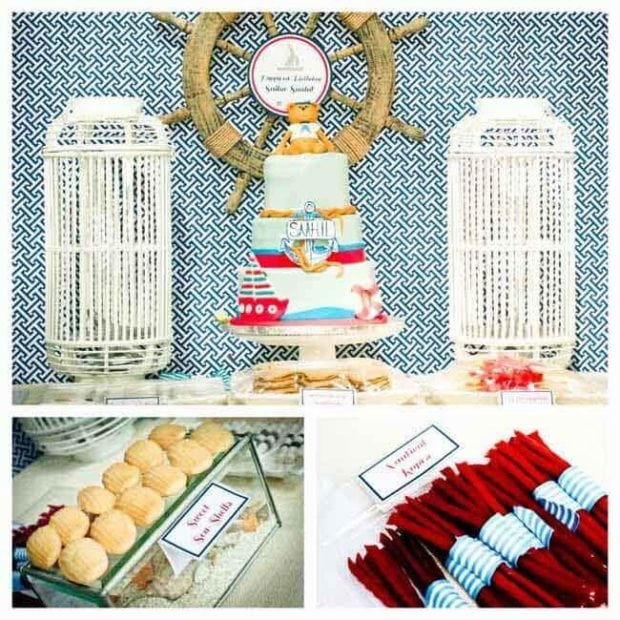 Nautical Themed Sailor Birthday Party