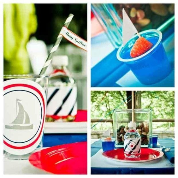 Nautical Themed Sailor Birthday Party Food