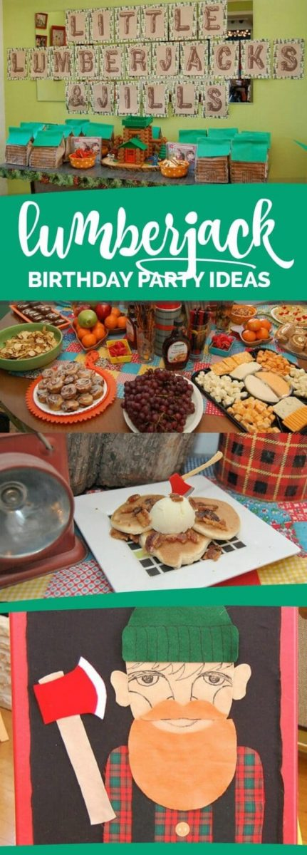 Lumberjack and Jill Birthday Party
