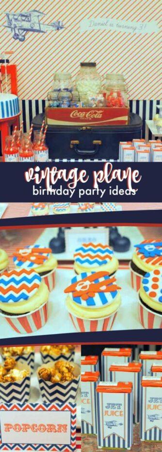 Vintage Plane Birthday Party