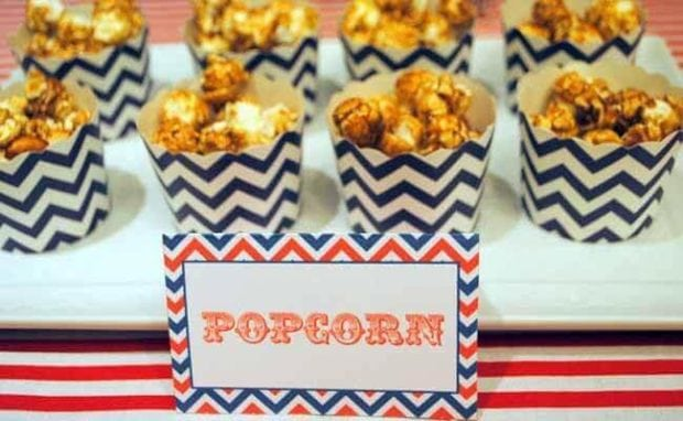 Vintage Airplane Themed Birthday party Popcorn food Ideas