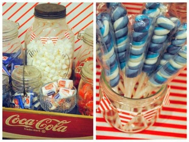 Vintage Airplane Themed Birthday party Candy food ideas