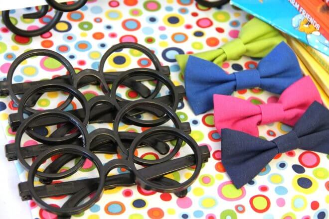 Bookworm Birthday Party Bowties