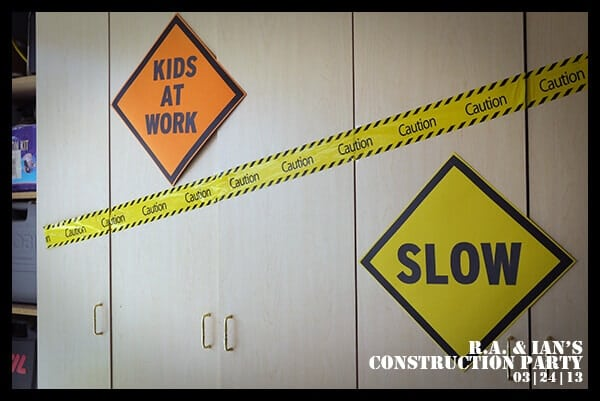 Boys Construction Themed Birthday Party Decorations