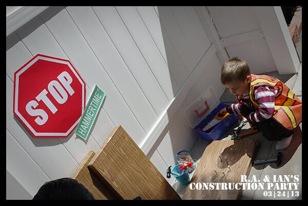 Boys Construction Themed Party Game Activity