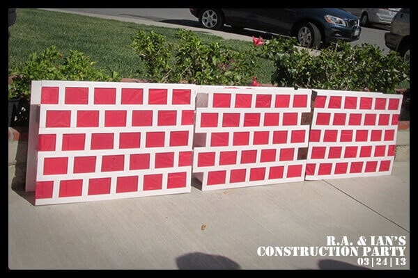 Boys Construction themed Party Game Ide
