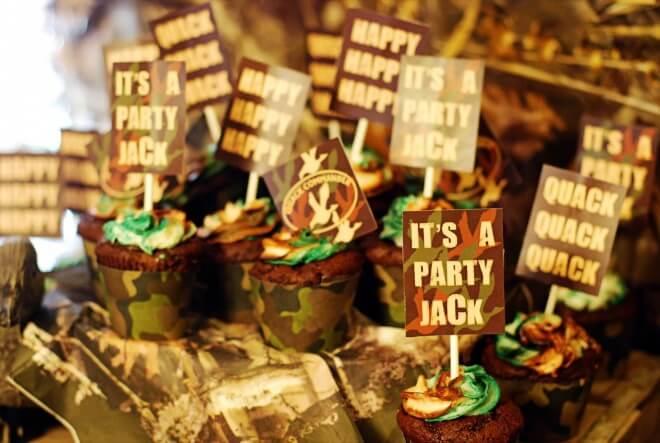 Boys Duck Dynasty Themed Birthday Party Cupcake Ideas