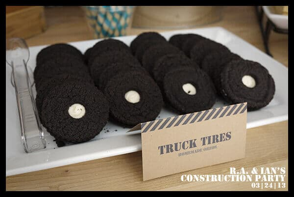 Construction Themed Birthday Party Food Cookie Ideas