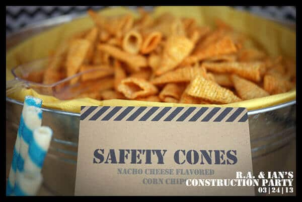 Construction Themed Birthday Party Food Snack Ideas