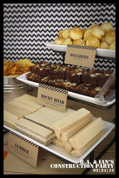 Construction Themed Party Food Ideas