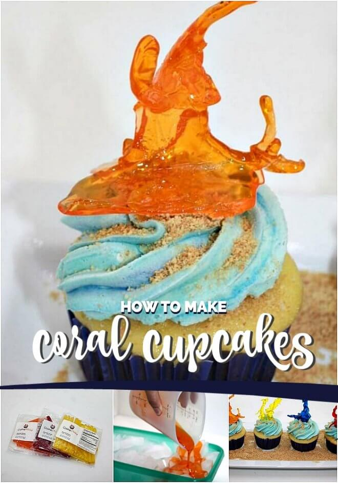 How to Make Coral Cupcakes