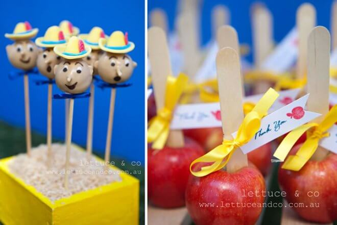 Pinnochio Themed Birthday Party Dessert Ideas