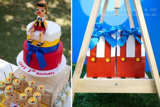 Pinnochio Themed Birthday Party Favor Ideas