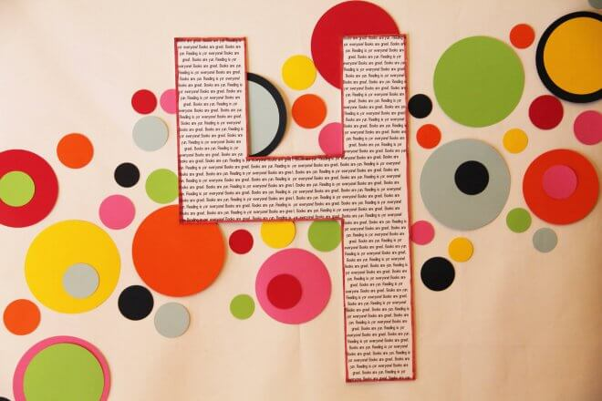 bookworm birthday party wall decorations