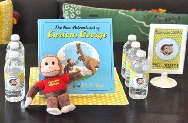 The decor details at this Curious George birthday party were truly inspirational.